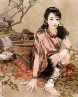 Hand painted illustrations of 56 ethnic groups from China.    ?The artist Chen Shu Fen (�����) is best known for her paintings of beautiful women and handsome men. She has worked on a project in which she painted 56 Chinese ethnic groups from China. Each staying true to there original ethnic clothing. Beautiful Chinese Ladies  | handsome guys picture handsome chinese men