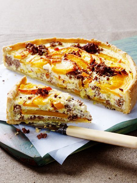 Photo of Pumpkin mince quiche with sheep's cheese cream recipe | DELICIOUS