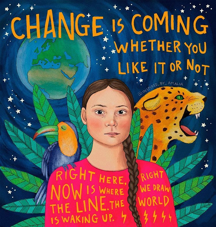 GRETA THUNBERG illustration art | Amalia Wahlström Instagram ...