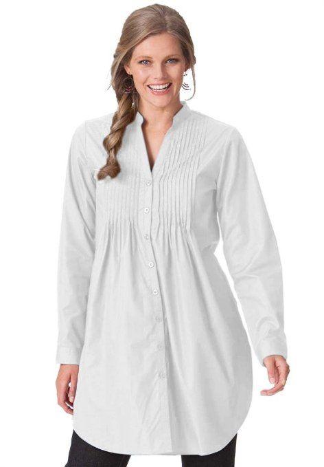 aeba099fb46 Amazon.com: Woman Within Women's Plus Size Tunic Length Top $30 ...