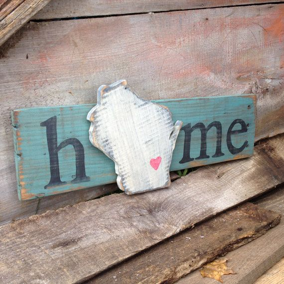 Handmade State Home Wood Pallet Sign Wisconsin by ...