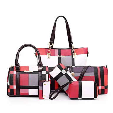 Color : Brown, Size : M Ybriefbag Handbag Ladies Handbag Colorblock One Shoulder Portable Leather Handbag Fashion Bag Ladies