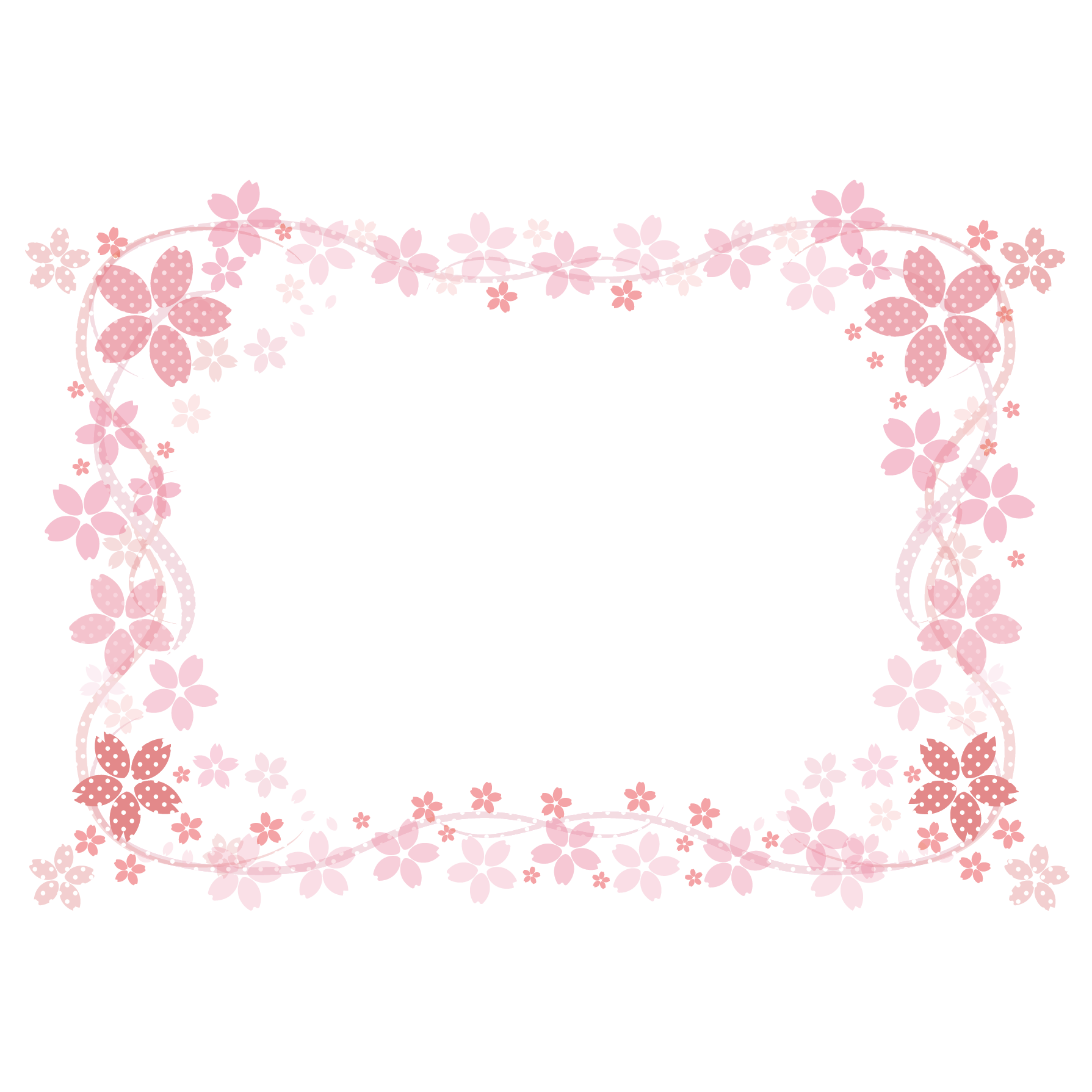 商用可 春を感じる 和風だけどかわいい 桜のフレームデザインの無料