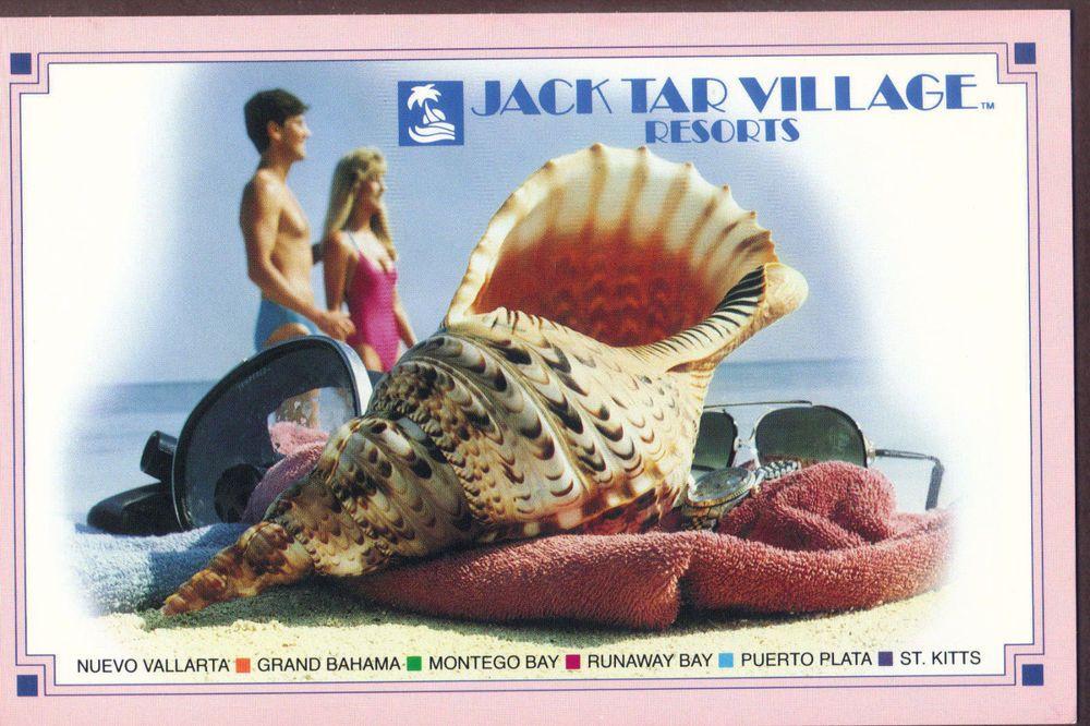 Jack Tar Village Resorts Real Photo Post Card Rppc Unused Postcard Real Photos Resort