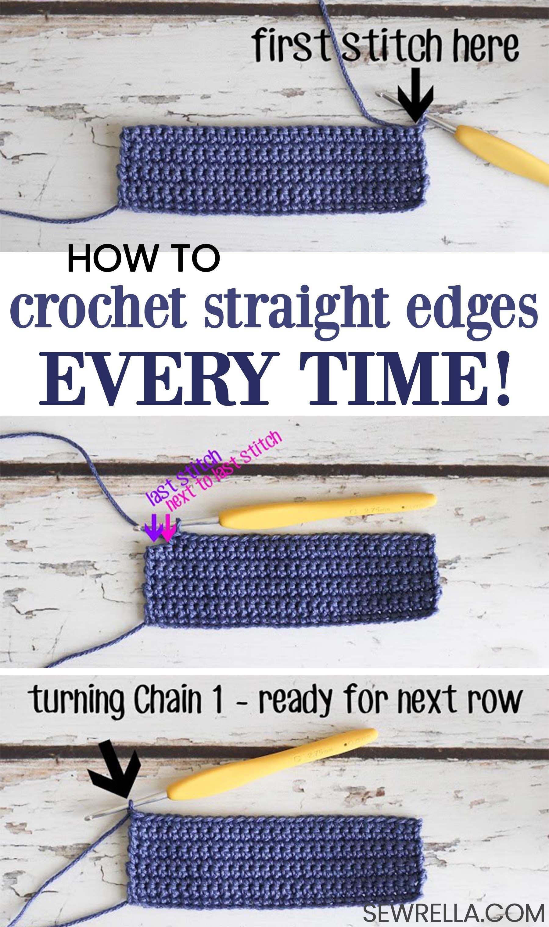 Crochet Tips - Straight Edges Everytime | crochet | Pinterest ...