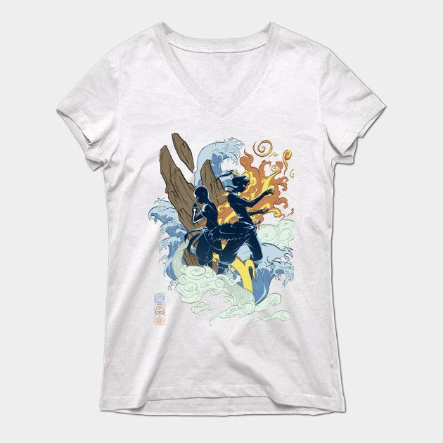 The Two Avatars Womens V-Neck T-Shirt
