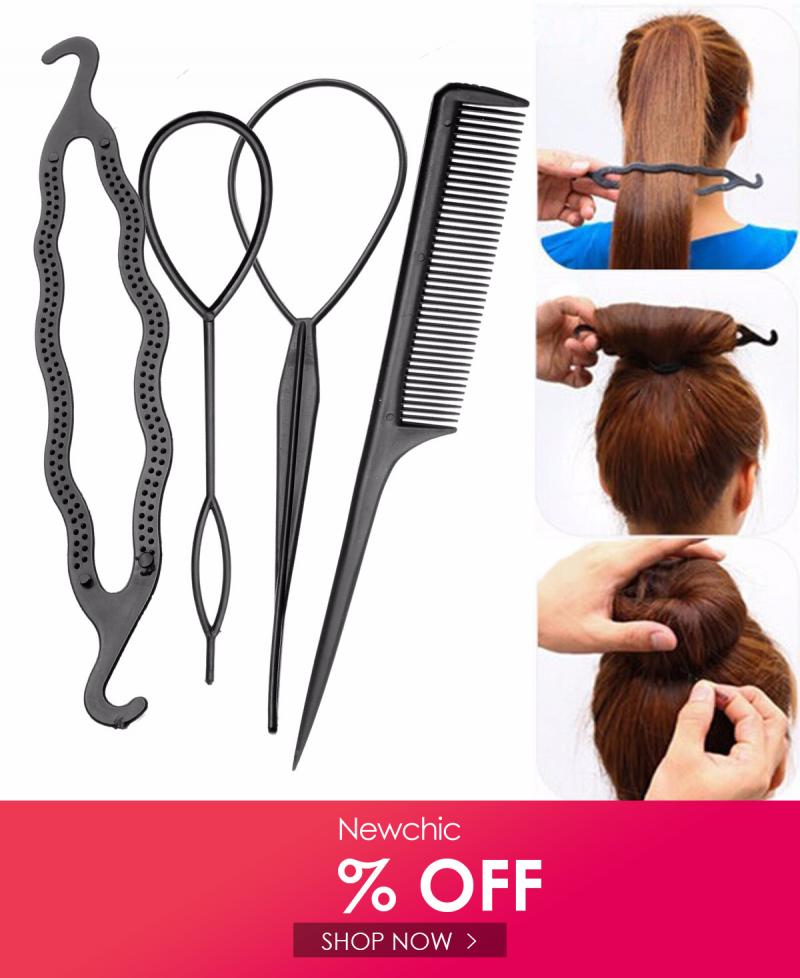 قم بزيارة Newchic للحصول على 60 المهداة لأول مستخدم أحصل على شحن مجاني و ضمان 14 يوم للإرجاع أو للتعويض Hair Braiding Tool Braid Tool Braided Hairstyles