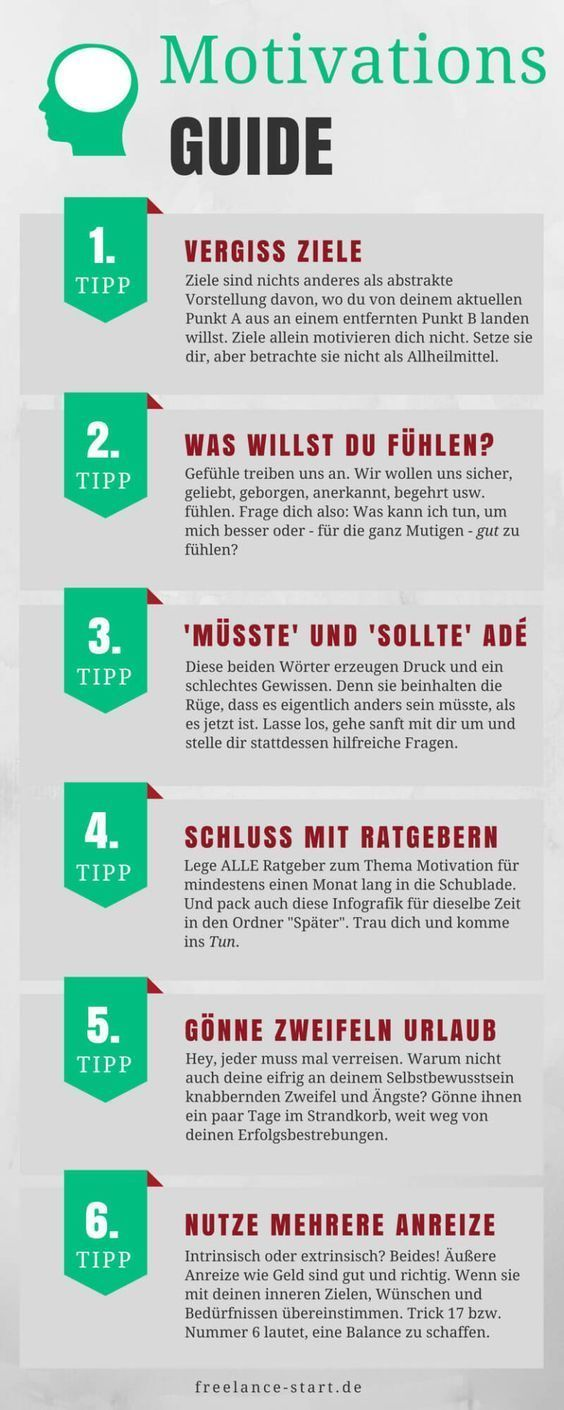 Motivation: With these 6 tips you will achieve your goals - fs-infografik-motivation guide -