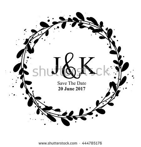 Wedding invitation rustic frame vector rustic decoration date wedding invitation rustic frame vector rustic decoration date wreath save floral junglespirit Image collections