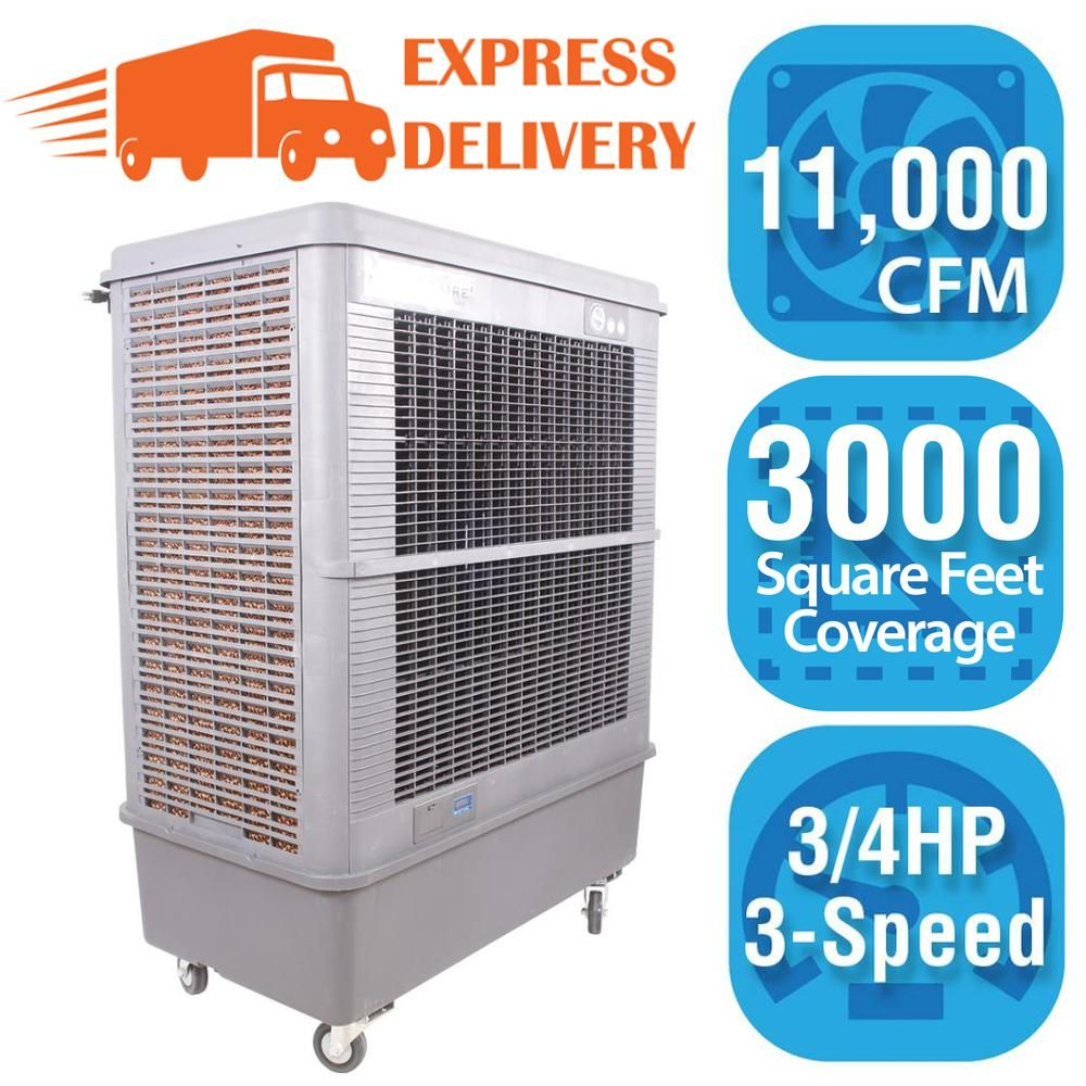 Hessaire 11,000 CFM 3Speed Portable Evaporative Cooler