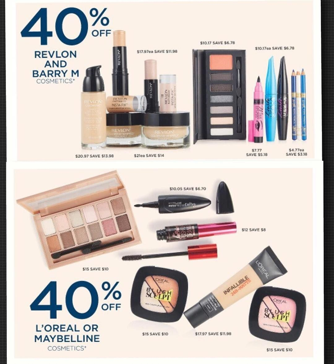 At @bigwaustralia you can get 40% off #cosmetics by #revlon #barrym #loreal #maybelline on sale until 3/8/16 . . . #makeupsale #cosmetics #lipstick #eyeshadow #mascara #blush #foundation #almosthalfprice #bigw #onsale #stockupprice #shopping #whypaymore #whypayfullprice #bargain #bargainmum #smartshopper #savvyshopper #savvysaver #aug16 #jul16