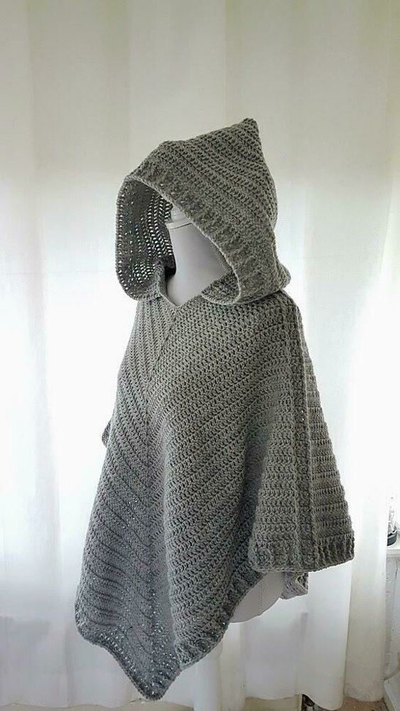 Photo of Hooded Poncho Crochet pattern by Frisian Knitting