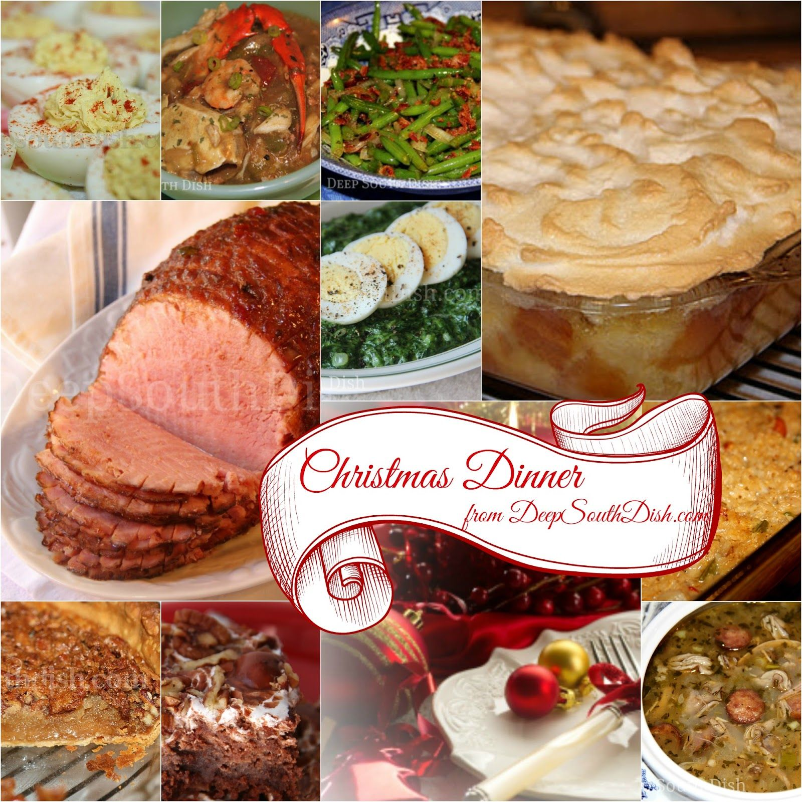 A Southern Christmas menu and collection of Christmas recipes, all ...