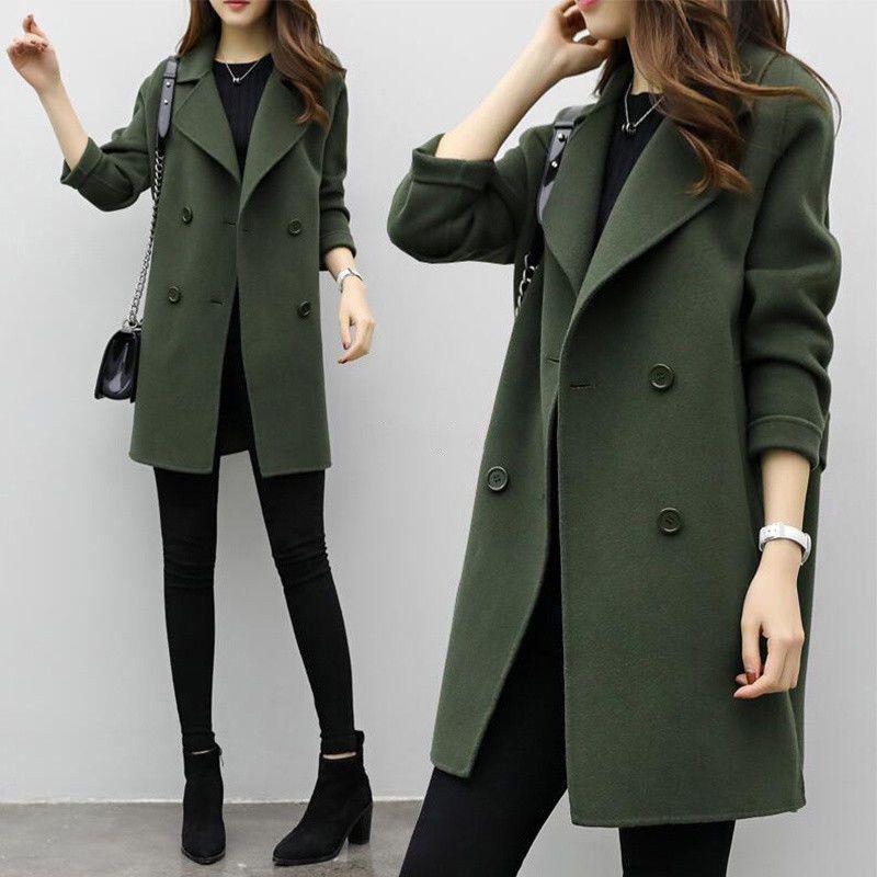 Trench Winter Warm Jacket Long Lapel 2019 Parka Overcoat Women Outwear Coat