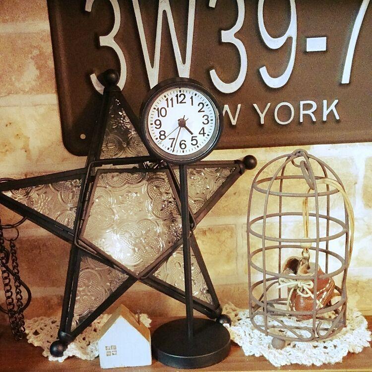公園の時計・ミニ 置時計・ホワイトのインテリア実例