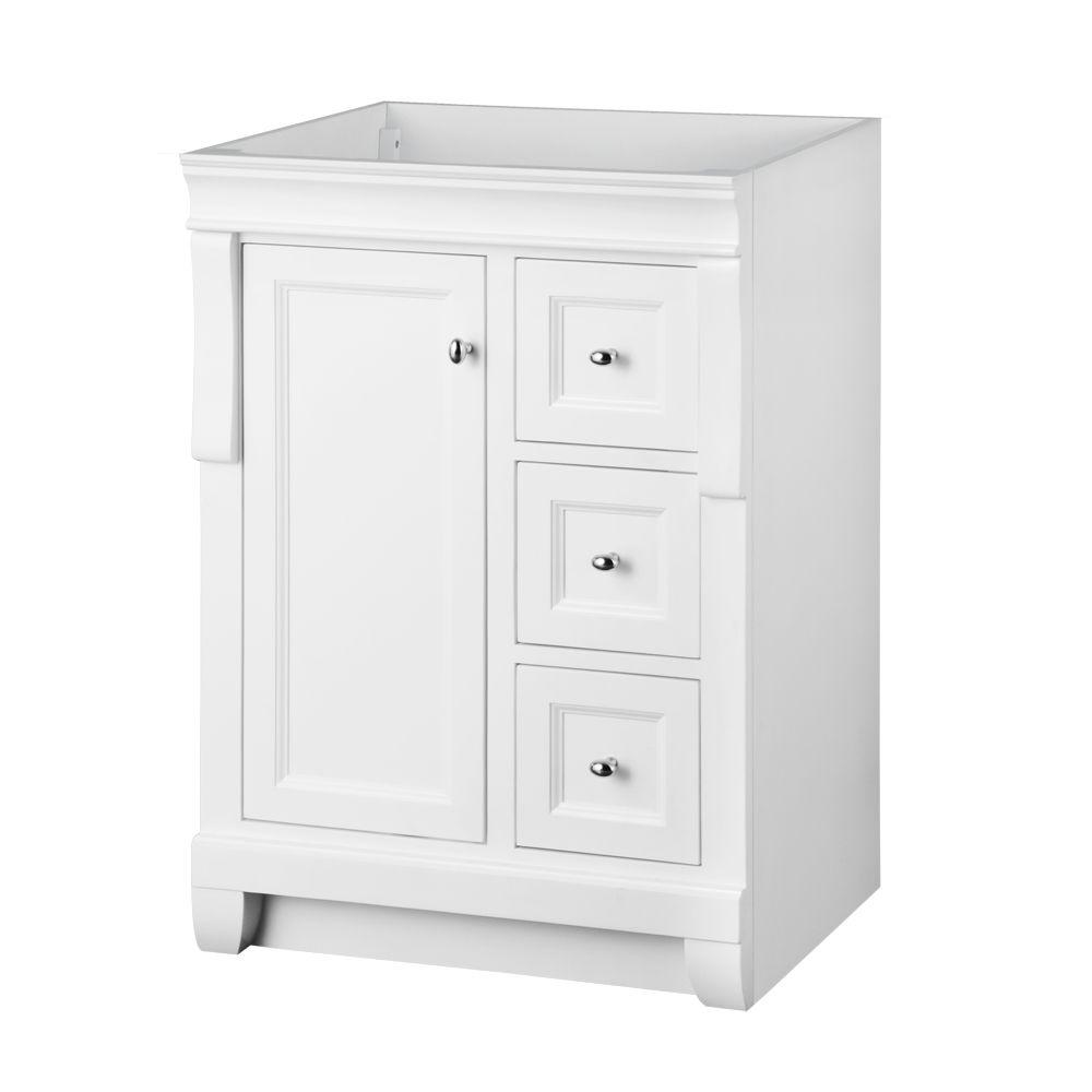 Foremost Naples 24 in. W Bath Vanity Cabinet Only in White with Left ...