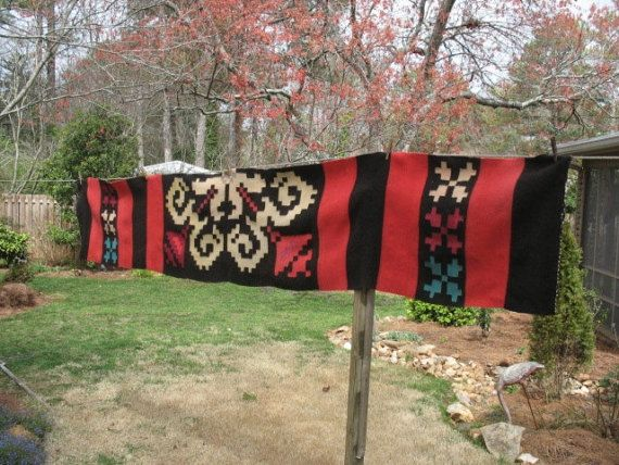 Vintage Southwestern Mexican Navajo Greek Hand Woven by luckduck