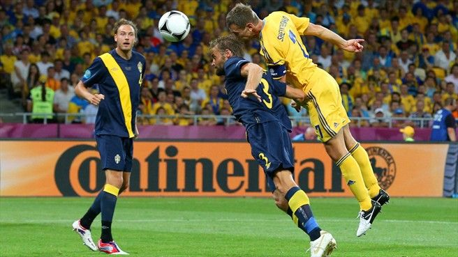#euro2012 #sheva - Andriy #Shevchenko rises highest to equalise for Ukraine within three minutes
