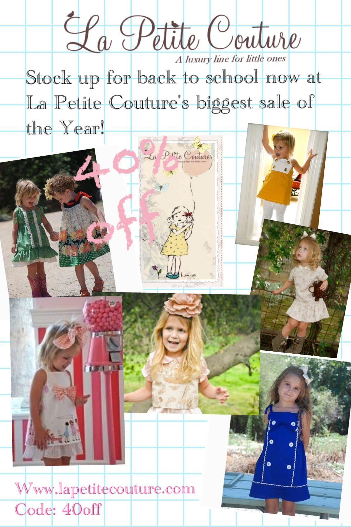 3ecb486f3 Luxury kids clothes sale at La Petite Couture-40%off!