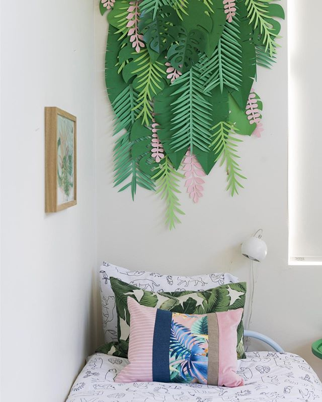 fabulous jungle house bedroom pictures | A fabulous jungle oasis was created by @roomienz for her ...