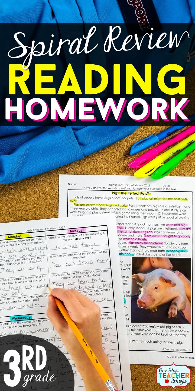 3rd Grade Reading Homework 3rd Grade Reading Comprehension