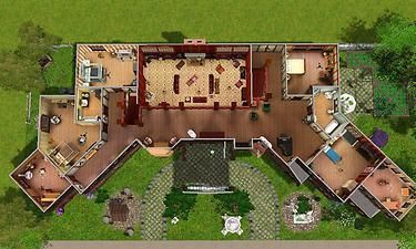 """ModTheSims Glenridge Hall The mansion from TV series """"The Vampire Diaries"""""""