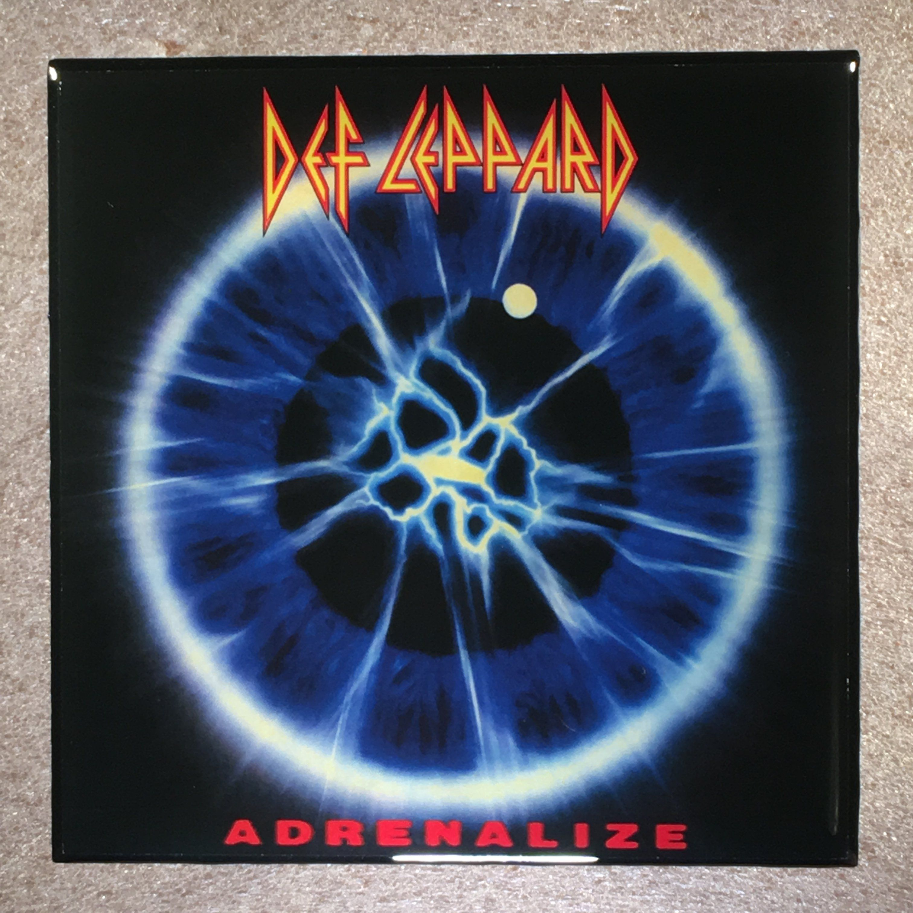 Def Leppard Adrenalize Coaster Record Cover Ceramic Tile Def Leppard Def Leppard Albums Def Leppard Poster