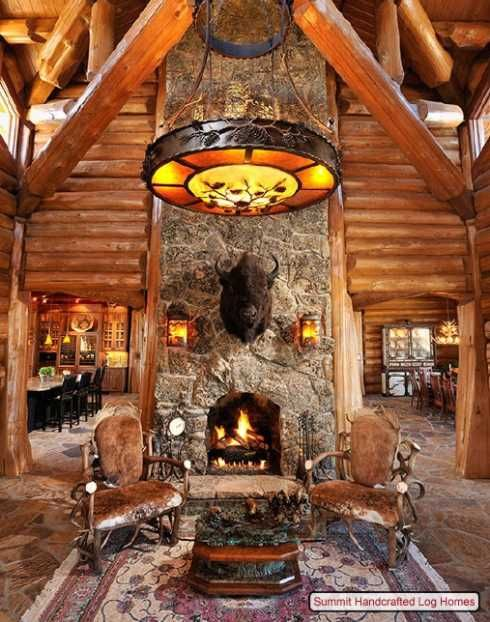 Log Home Decorating On A Truly Grand Scale Log Home Interiors