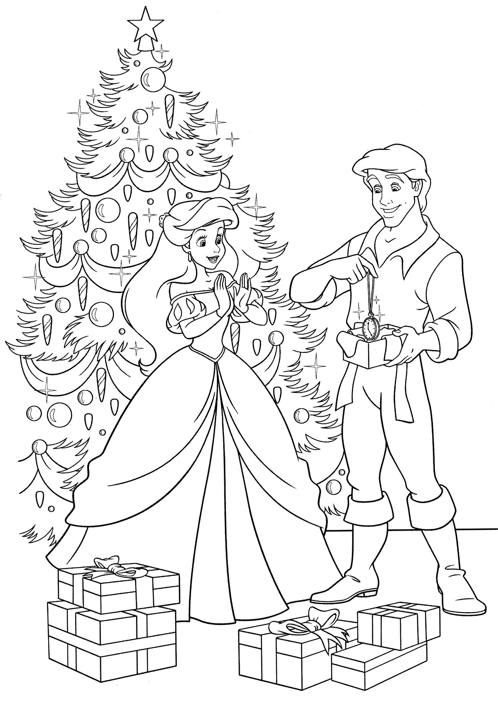 Christmas Princess Coloring Page Through The Thousand Pictures Online About Chr Mermaid Coloring Pages Disney Princess Coloring Pages Princess Coloring Pages