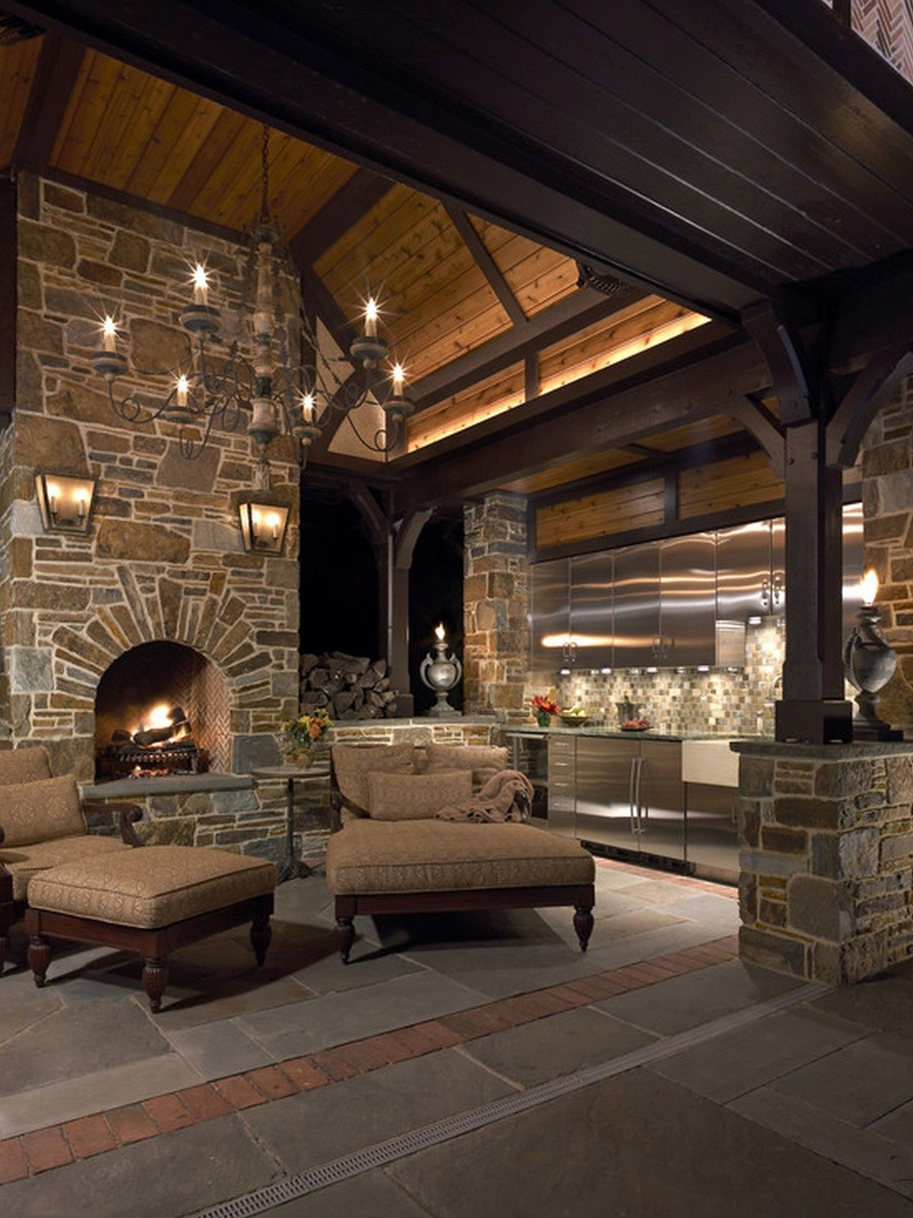 Astounding Corner Stone Fireplace Decor Fetching Stacked Stone Fireplace Pictures