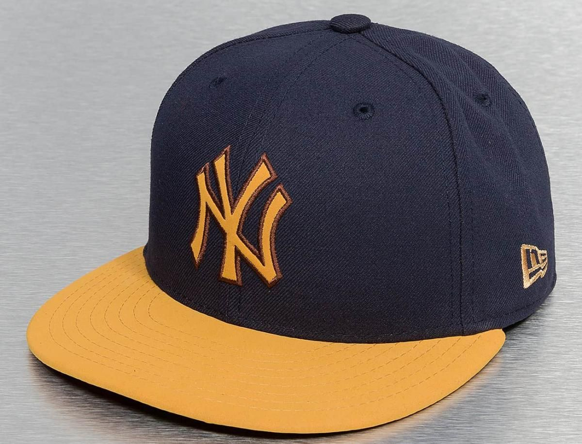 yankees fitted hat blue