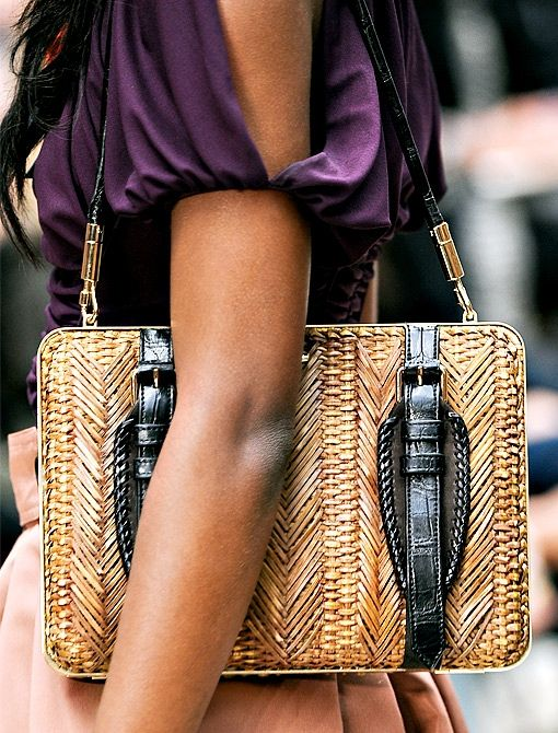 The picnic basket bag by Burberry.