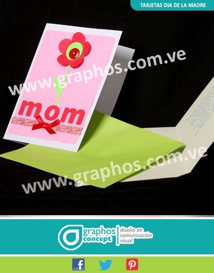 Tarjetas para Ocasiones Especiales.  Serie Mom: Texturizadas, flor en 3-D, cintas y lazo.  Haz tu pedido a graphos.concept@gmail.com