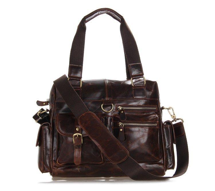 """12"""" Leather Messenger Bag - 7207C"""