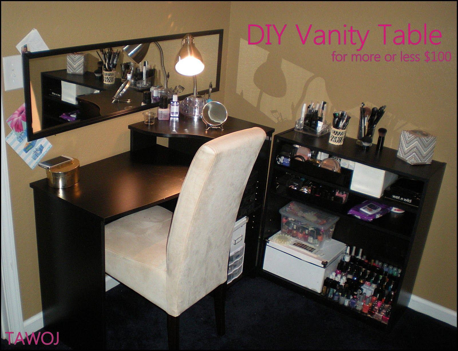Guest Post Affordable Vanity Setup Diy vanity table