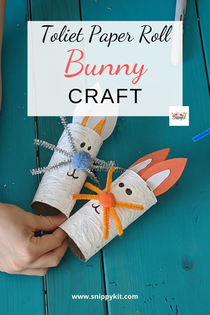 This fun and easy crafts will have your kids enjoying themselves so much. The Toilet Paper Roll Bunny is simple and easy to craft together. #eastercraft #kidsactivity #kidcraft #easykidcraft