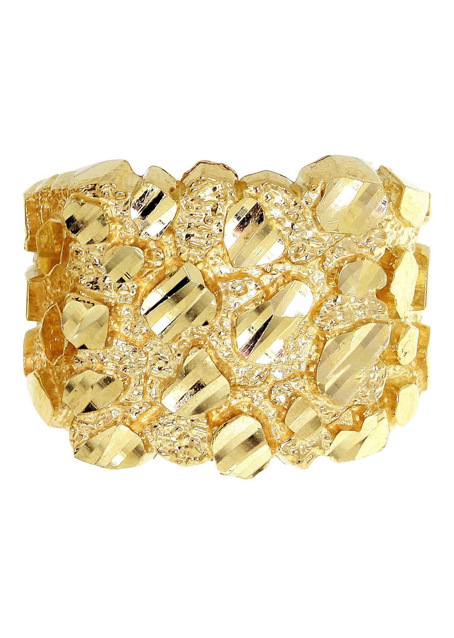 Gold Nugget Ring Mens Ring 10K Gold 6.9 Grams in 2020