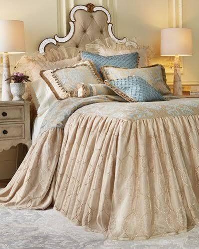 skirted coverlet bedding Bedding fashion Pinterest Bed linen