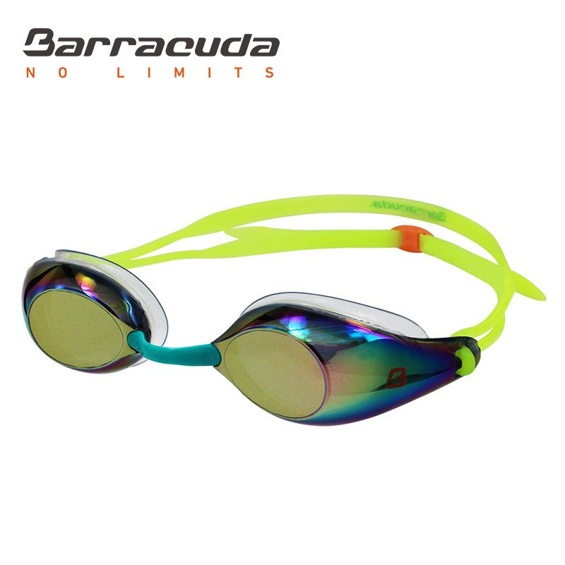 Barracuda Swim Goggle LIQUID SURGE - Mirror Lenses Silicone Gaskets, Anti-fog UV protection Anti-glare, Easy Adjusting No leaking Comfortable, Competition Racing for Adults Men Women #91510