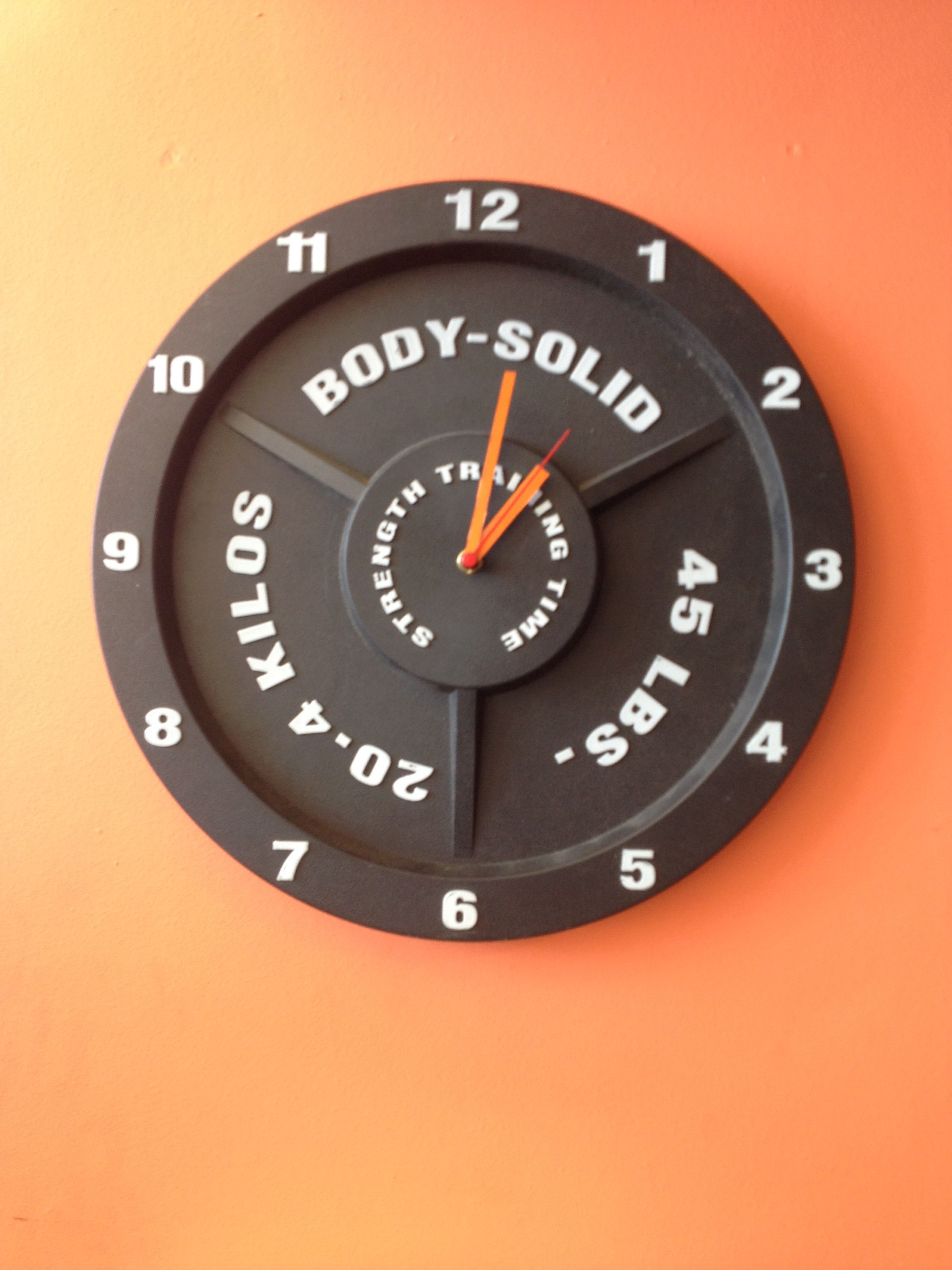 20kg Wall Clock Good Idea For Gymhome Gym Or Man Cave Man Cave