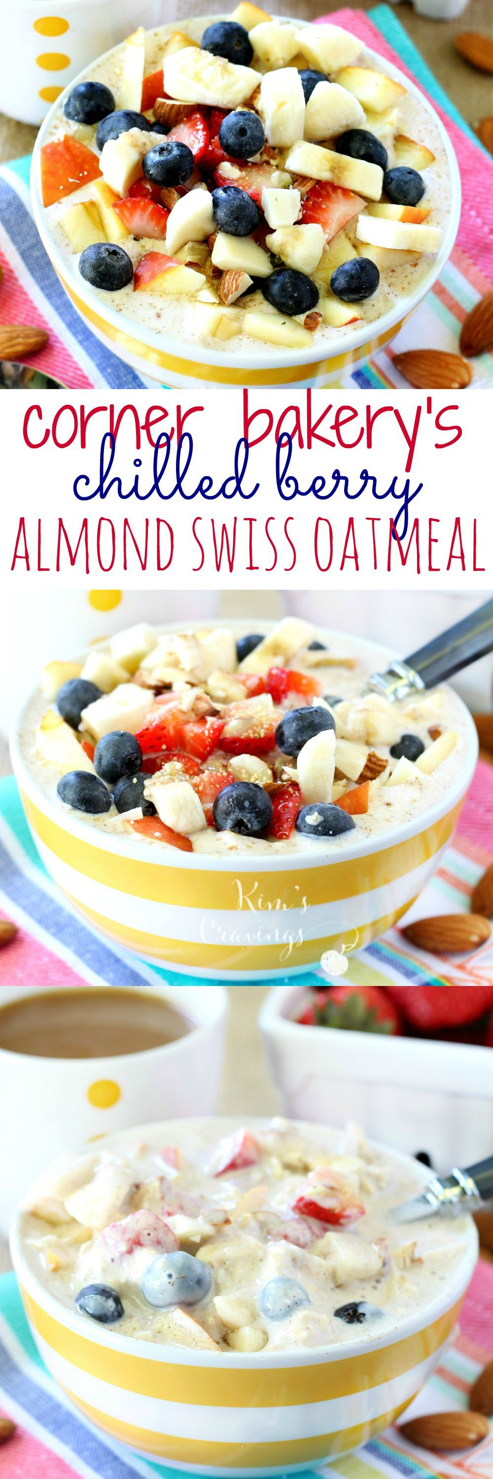 The Corner Bakery's Chilled Berry Almond Swiss Oatmeal is a seasonal item, but with this copycat recipe, you can enjoy this delicious swiss oatmeal year round! (made healthier & gluten-free)