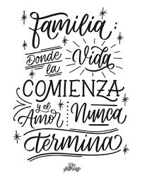 Frases Familia Con Lettering Buscar Con Google Frases