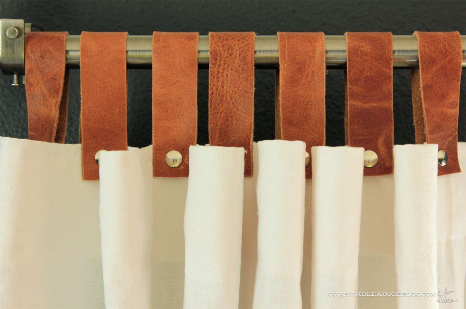 Painting A Wood Wall White Tab Top Curtains Leather Decor Curtains