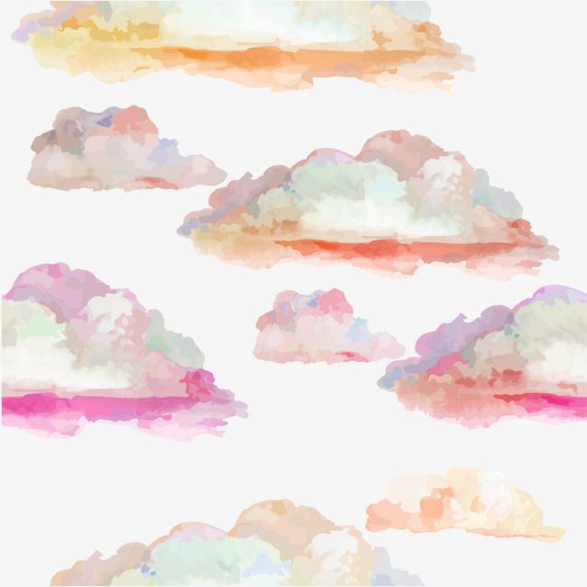 Colorful Clouds Originality Colourful Painting Png Transparent Clipart Image And Psd File For Free Download Watercolor Clouds Watercolor Pattern Background Cloud Illustration