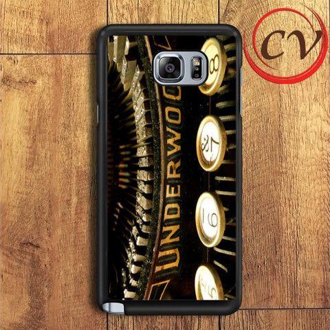 Vintage Underwood Typewriters Samsung Galaxy Note 6 Case