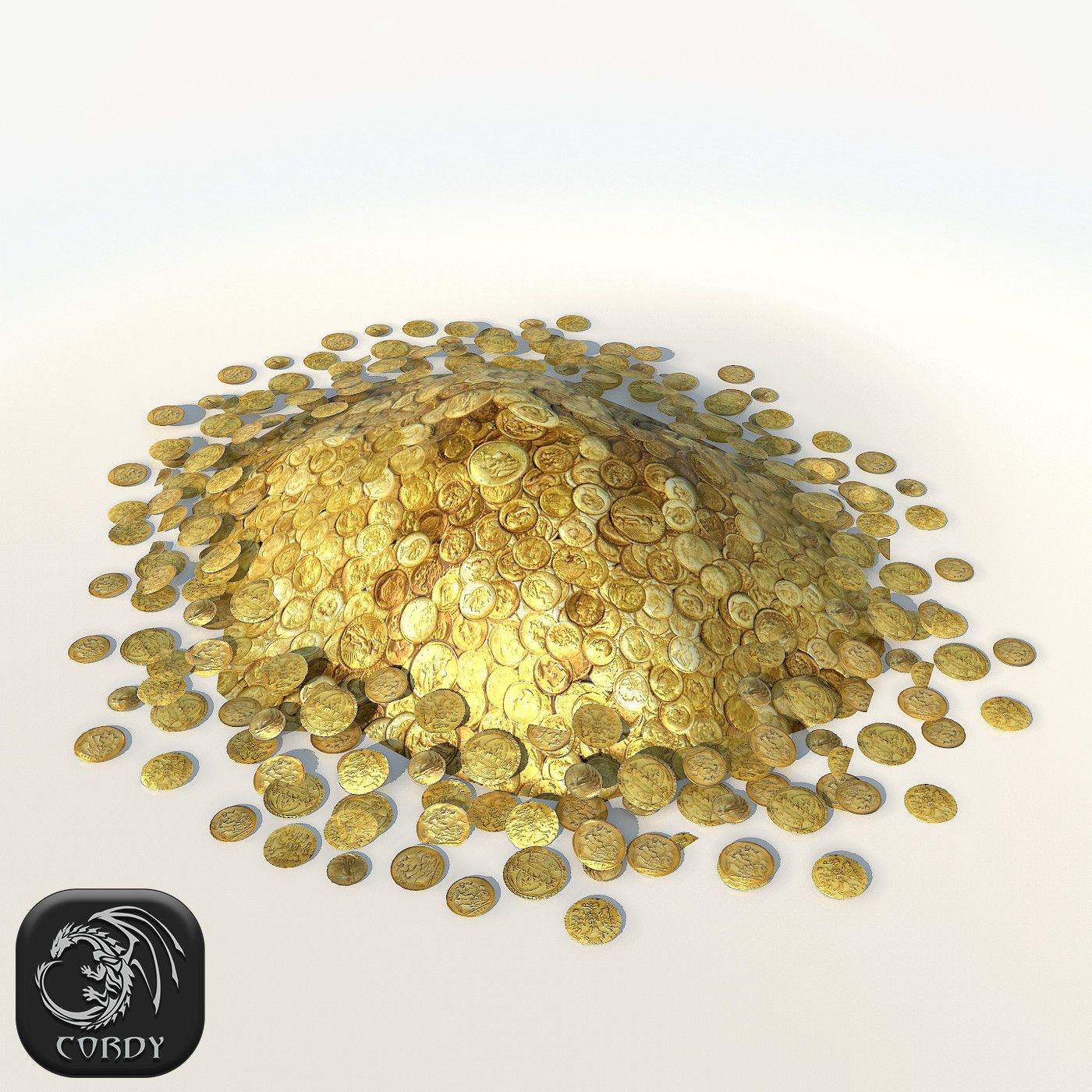 Model Pile Gold Coins
