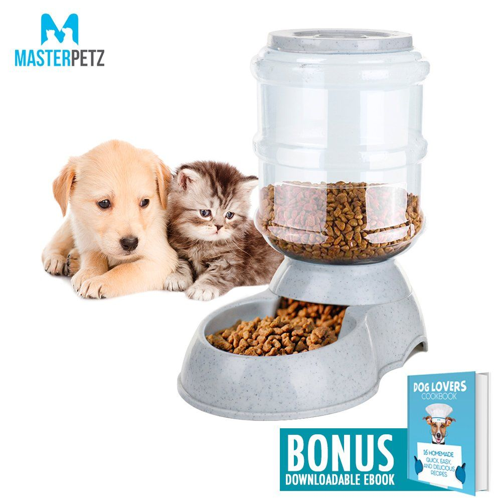 Dog Feeding Bowl For Dogs Cats Puppy Kitten And Small Pets Andlt 7 Lbs With 8 3 Pound 16 Cups Capacity Automatic Gra Dog Feeding Bowls Dog Feeding Food Animals