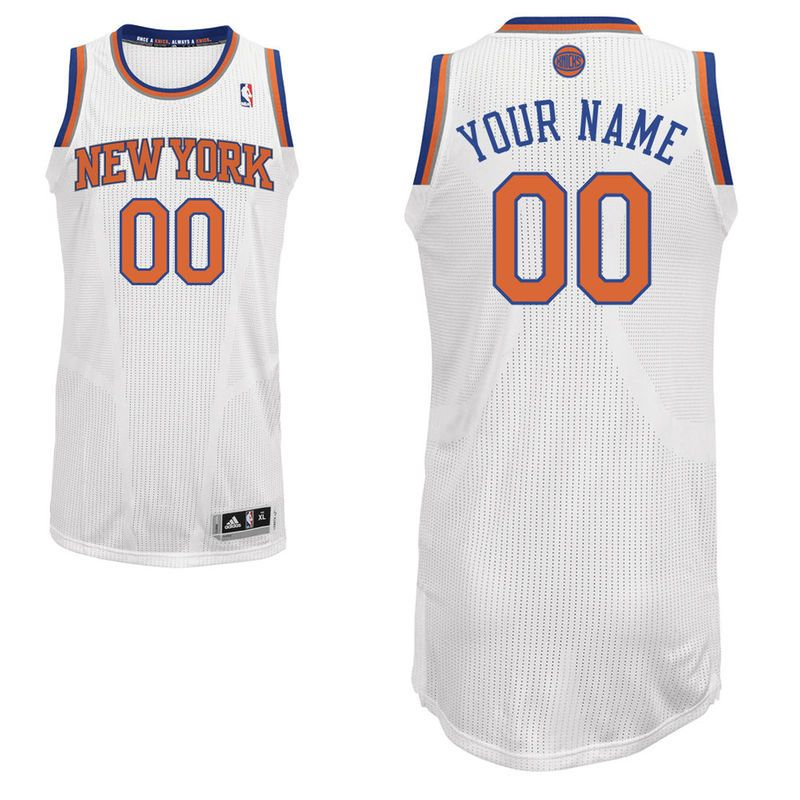 san francisco 8e7b5 305b4 New York Knicks adidas Custom Authentic Home Jersey - White ...