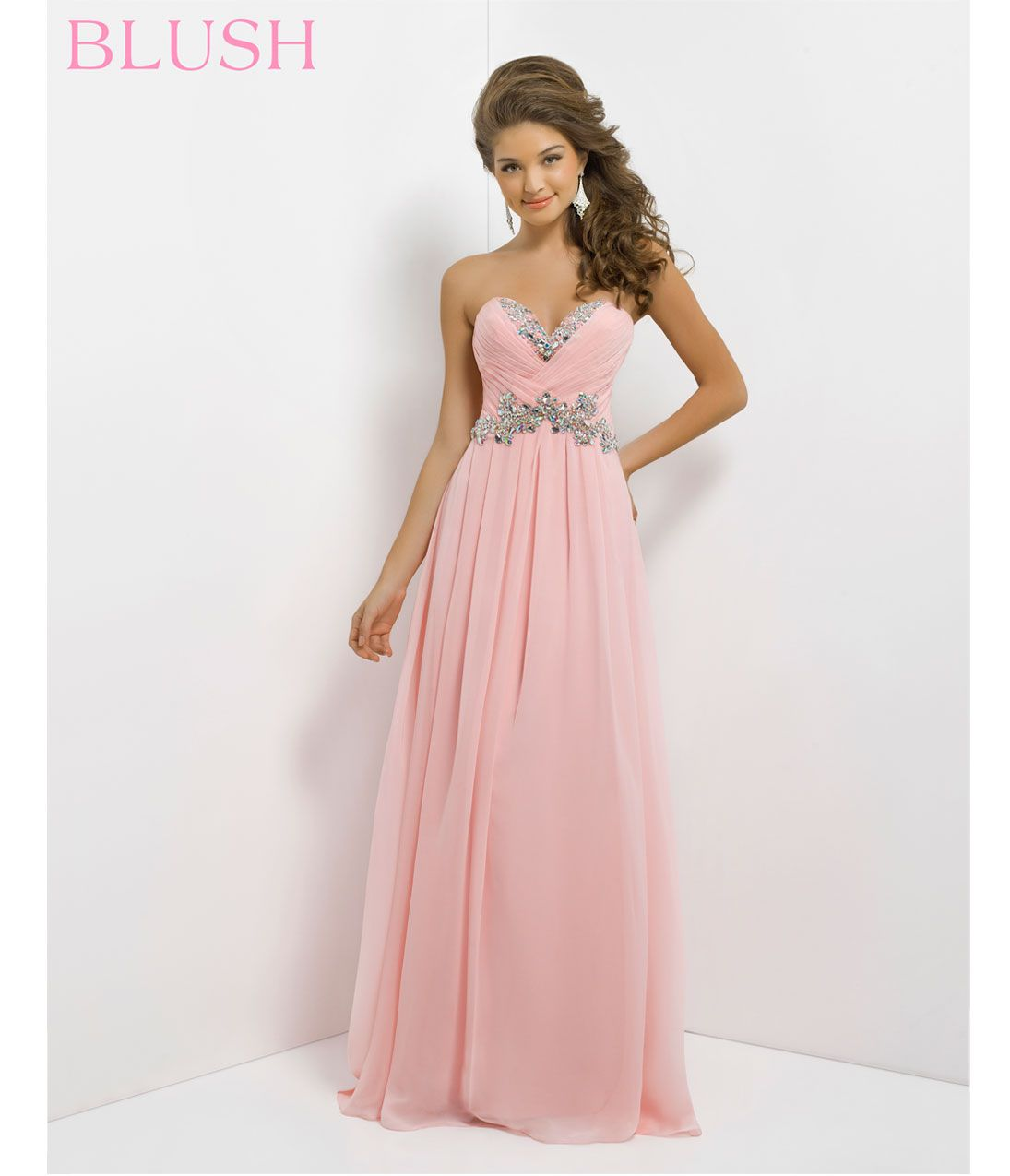 pink by blush prom dresses