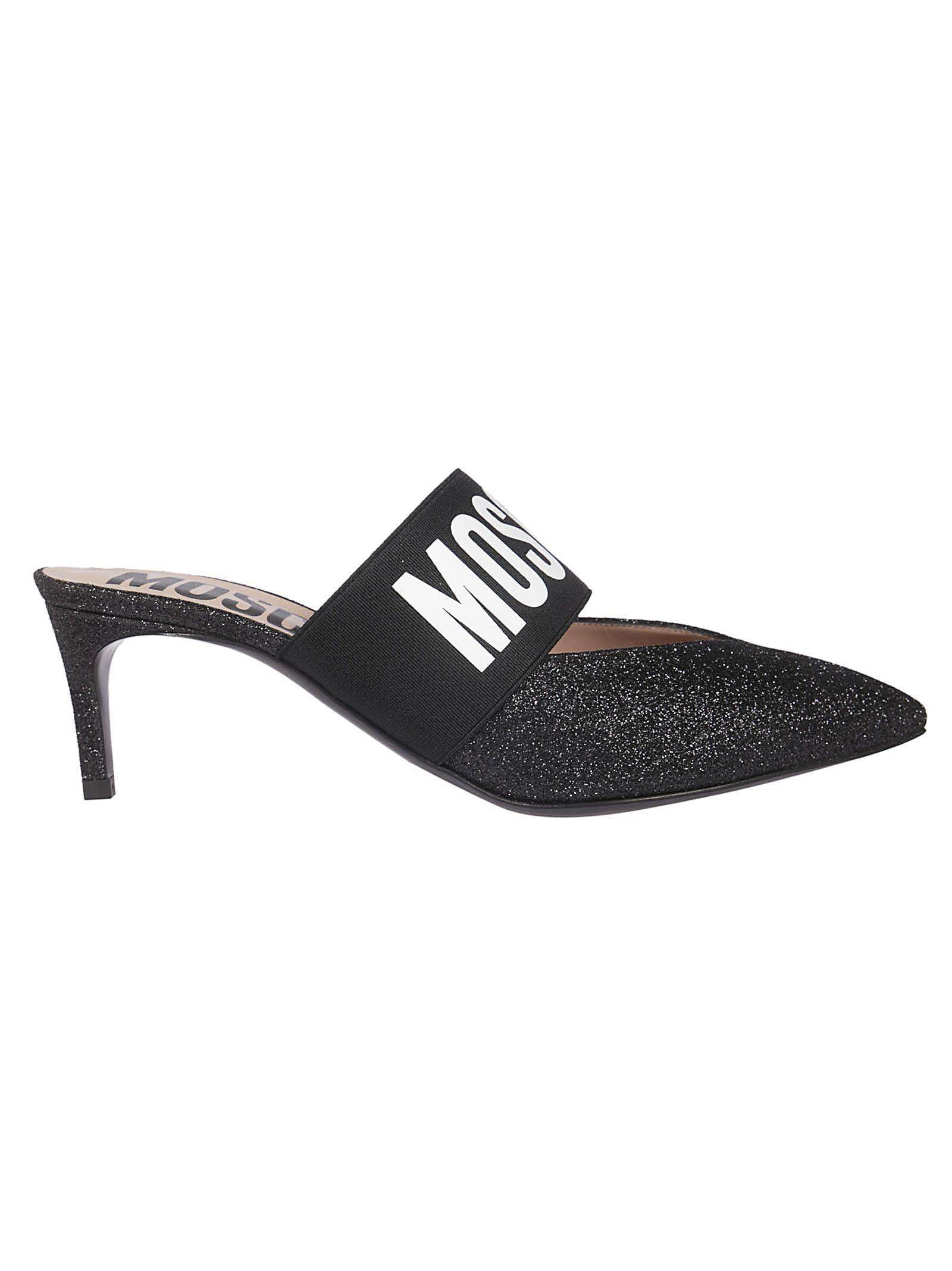 d15c19b22175 MOSCHINO GLITTERY COATED MULES.  moschino  shoes